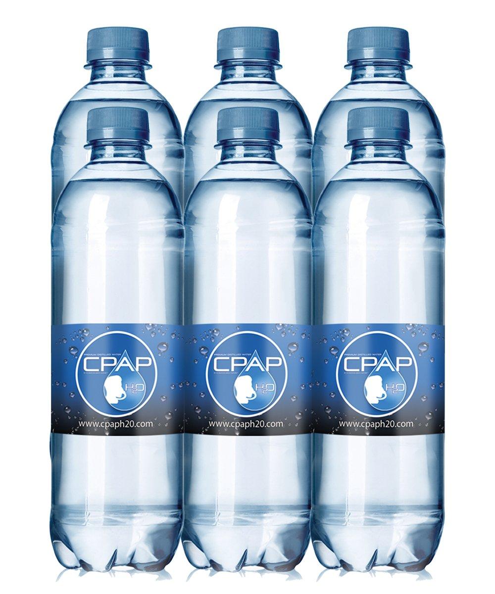 20.0 oz CPAP H20 Premium Distilled Water (Pack of 6) by CPAP H20