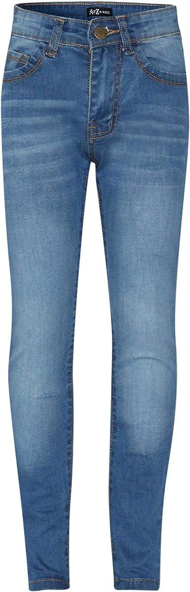 Kids Girls Mid Blue Skinny Jeans Designer Denim Stretchy Pant Fit Trouser 5-13 Y