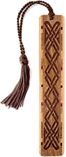 product image for Personalized Celtic Knot (on Sapele), Engraved Wooden Bookmark with Tassel - Search B0124XAHRG for Non-Personalized Version