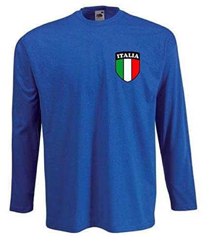 Camiseta Hombre Italia Selecci?n Nacional Manga Larga - Todas Las Tallas