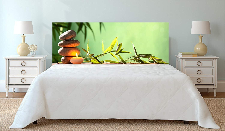 Amazon.de: Kopfteil Bett PVC Digitaldruck Zen-Kerzensteine und ...