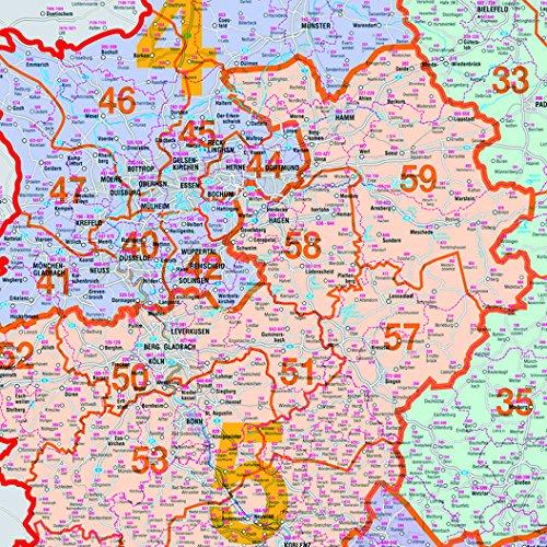 Karte Plz.Franken Ka440m Kartentafel Plz Deutschland Magnethaftend 1 750 000 138 X 98 Cm