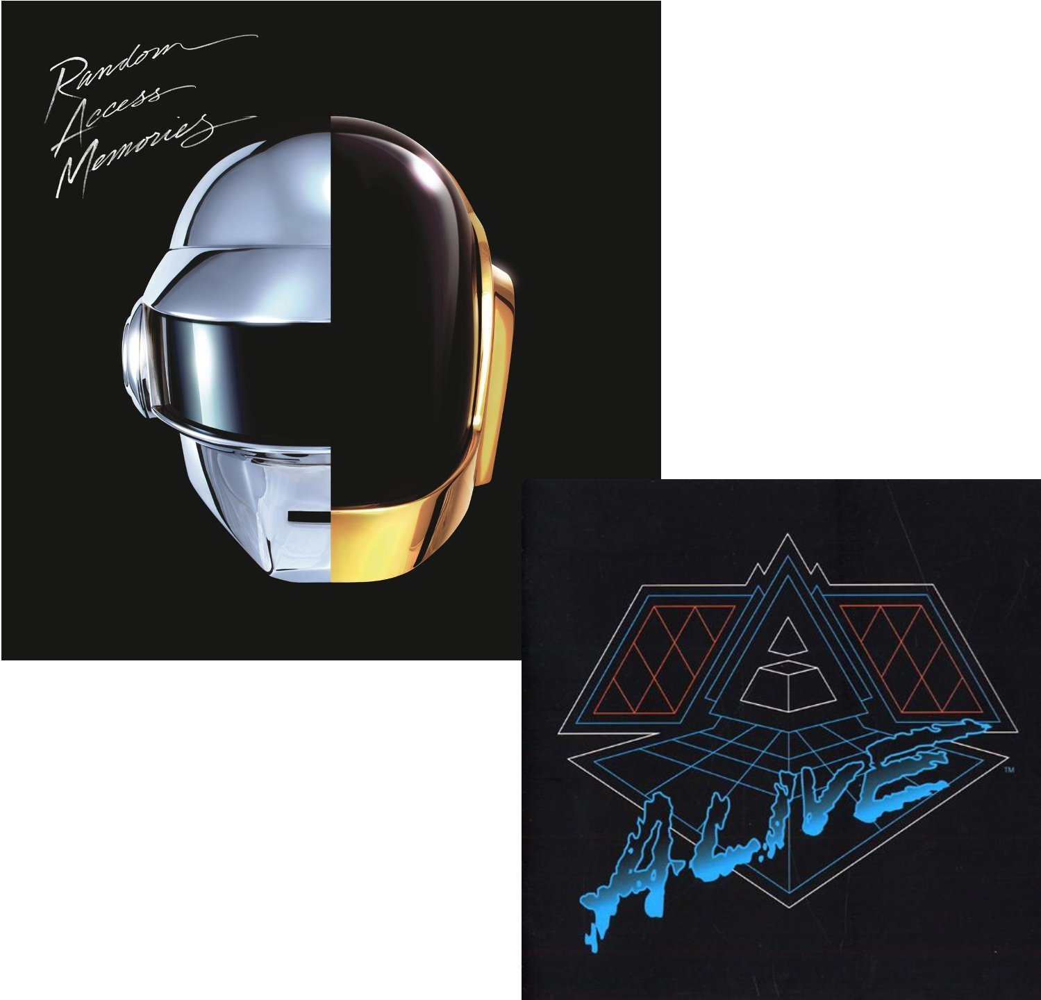 Random Access Memories - Alive 2007 - Daft Punk - Two Longplay Album Bundling (Vinyl)