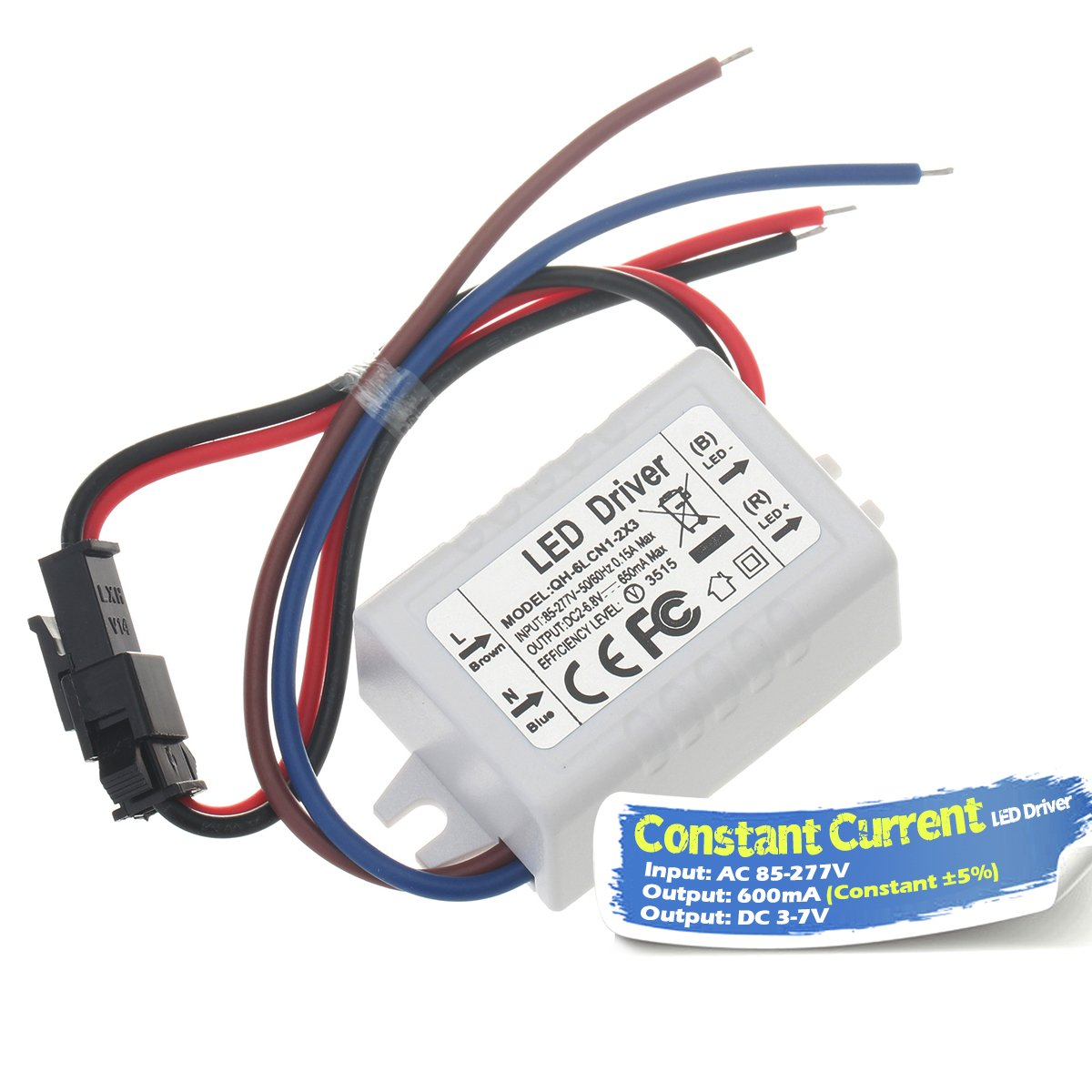 Chanzon Led Driver 600ma Constant Current Output 3v 7v Input 85 Together With 10 Watt Circuit On High 277v Ac Dc 1 2 X3w 3w 6w Power Supply 600 Ma Lighting Transformer Drivers For