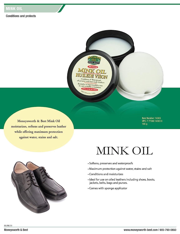 Moneysworth and Best Mink Oil-Tub, 6.5-Ounces Moneysworth /& Best 14303