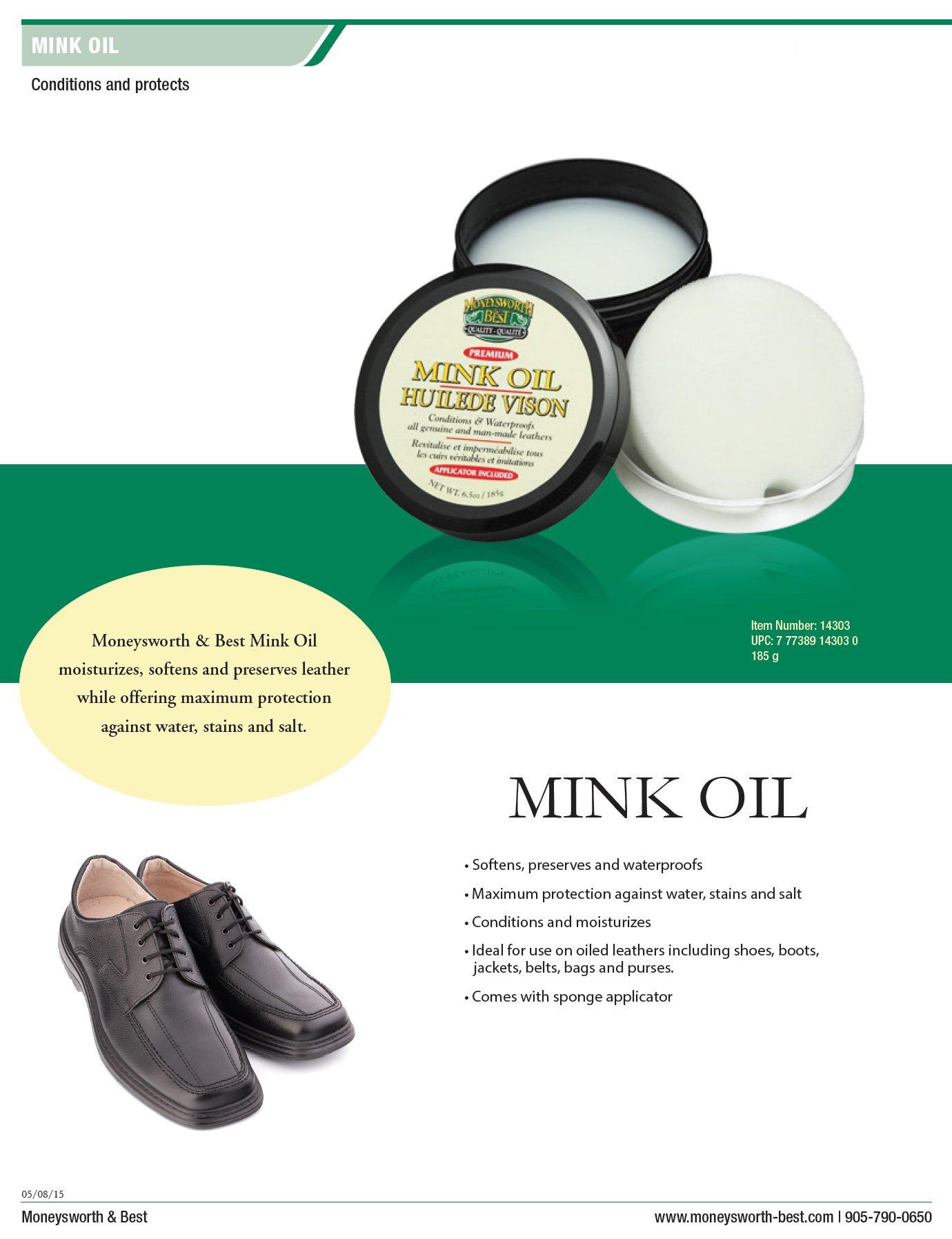 Moneysworth & Best Mink Oil-Tub (6.5-Ounces)