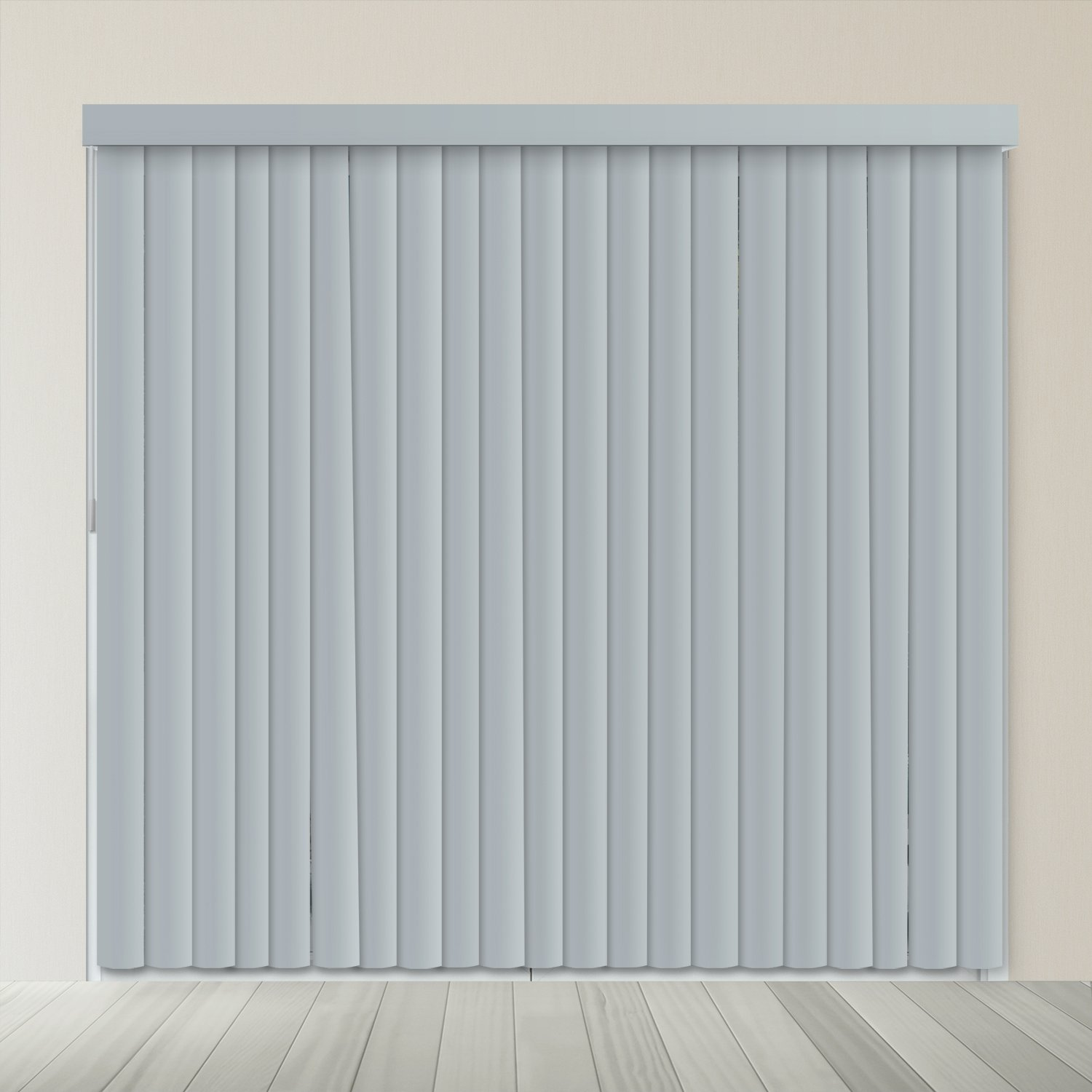 Chicology VBSG7884 Cordless Vertical Blind, Piano Slate Gray
