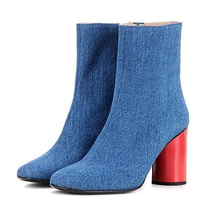 amazon botas azules celestes mujer