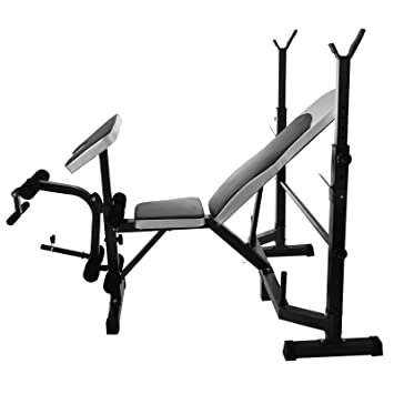 Moracle Banco de Levantamiento de Pesas Ajustable Entrenamiento de Gimnacio Home-Fitness Banco Multifuncional 5 en 1 Home Gym Steel Banco Multifuncional ...