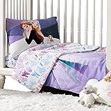 EXPRESSIONS 3 Piece Toddler Bedding Set, Disney Frozen Standard Crib Bedding Set, Includes Soft Microfiber Reversible Comfort