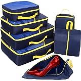8fa80f706c5d9 Set de 9 Bolsas para Maleta de Navaris en Azul Oscuro - Bolsas de ...