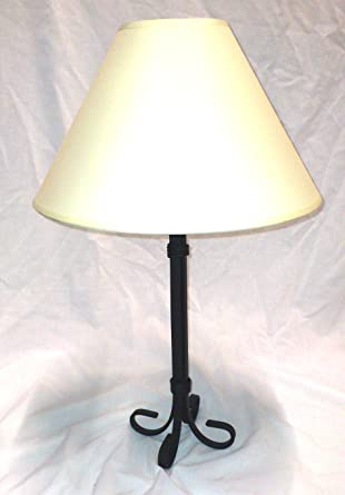 Mayfield Black Wrought Iron Table Lamp Base No Shade For Traditional