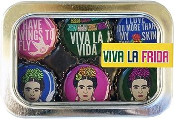 Kate Grenier Designs m6:frida Viva La Frida Bottle Cap Magnets