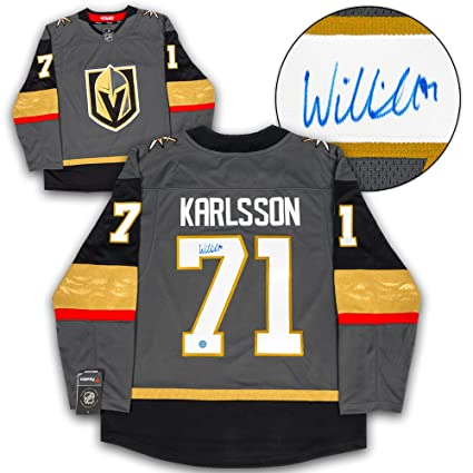 Knights William Golden Replica Autographed Collectibles Sports Fanatics Store Amazon's Hockey Karlsson At Jersey Vegas