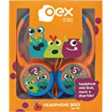 Headphone Boo Infantil, Oex, HP301, Laranja e Azul