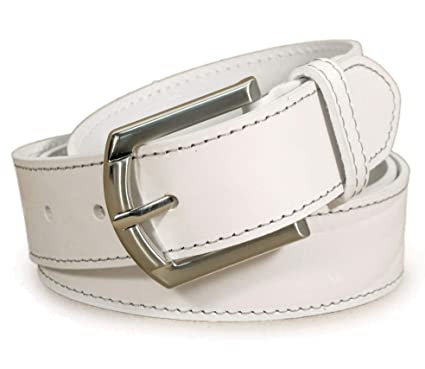 Mens Real Genuine Leather White Belt 1.25 Wide S-XL Thick Long Casual Jeans CM7