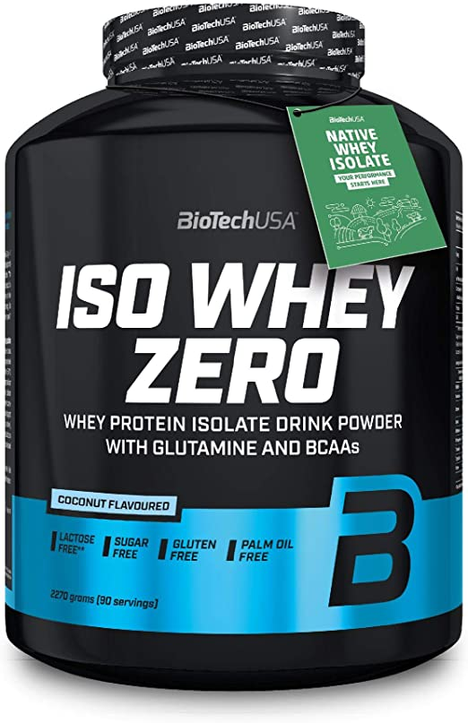 BioTechUSA Iso Whey ZERO, Lactose, Gluten, Sugar FREE, Whey Protein Isolate, 2.27 kg, Coco