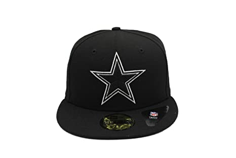 d089862b10a Amazon.com   New Era Dallas Cowboys 59Fifty Fitted Cap (Black