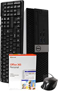 Dell 5040 Desktop Computer, Intel i5-6500 3.2GHz, 16GB RAM, New 1TB SSD, Windows 10 Pro, Microsoft Office 365 Personal, New 16GB Flash Drive, DVD-RW, Keyboard, Mouse, WiFi, Bluetooth (Renewed)