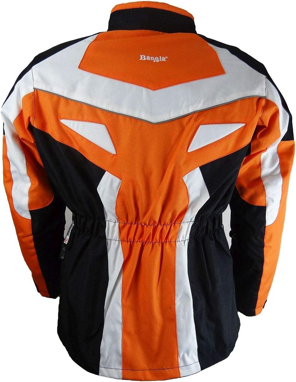 Bangla Kinder Motorradjacke Tourenjacke Textil 1535 Schwarz orange 128