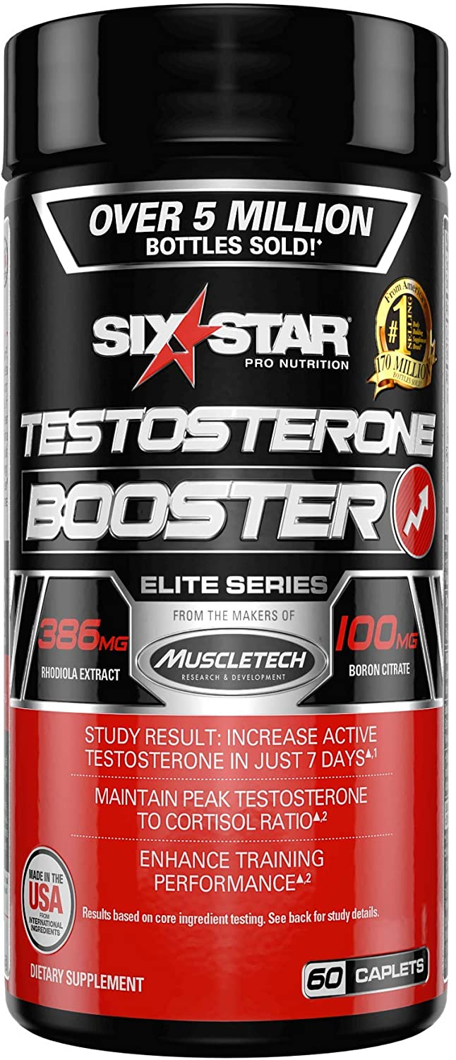 Testosterone Booster for Men | Six Star Pro Nutrition | Test Booster For Men | Extreme Strength + Enhances Training Performance + Scientifically Researched | Test Boost Supplement, 60 Pills: Health & Personal Care