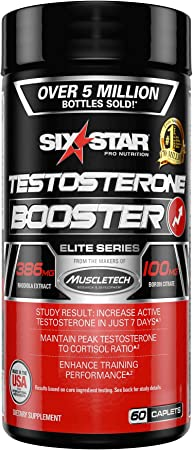 Testosterone Booster for Men | Six Star Pro Nutrition | Test Booster For Men | Extreme Strength + Enhances Training Performance + Scientifically Researched | Test Boost Supplement, 60 Pills