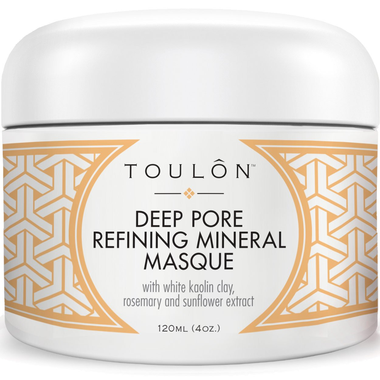 Clay Mask for Face with White Kaolin Mineral Clay. Reduces Wrinkles, Rids Blackheads, Acne & Dirt & Improves Complexion. TOULON NA