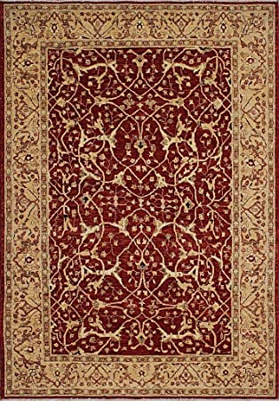 Amazon Com Traditional Hand Knotted Modern Fine Farhan Area Rug Red