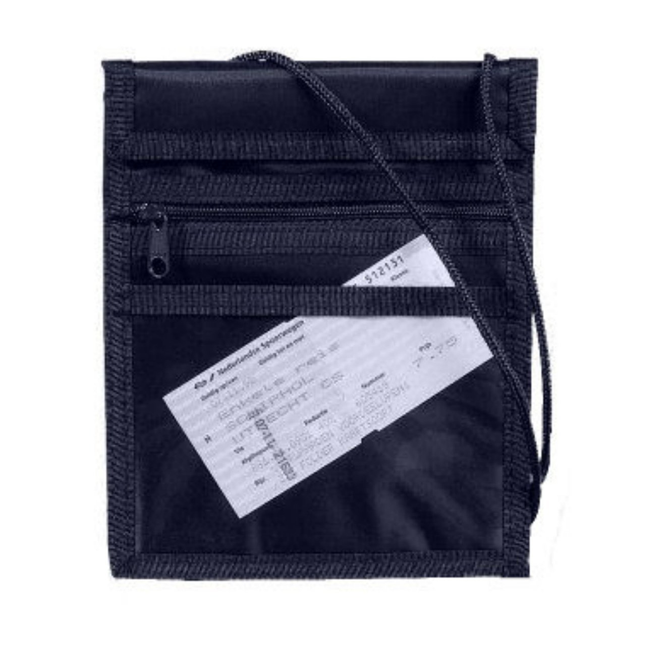 Security Neck Wallet - Passport. Money Pouch. (Navy)
