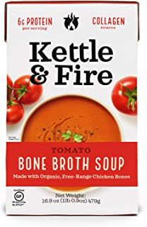 product image for Kettle And Fire, Tomato Soup With Chicken Bone Broth, 16.9 Ounce