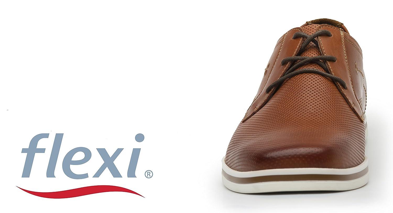 Flexi Shoes - Mocasines de Piel auténtica para Hombre, Color Marrón, Talla 45 EU: Amazon.es: Zapatos y complementos