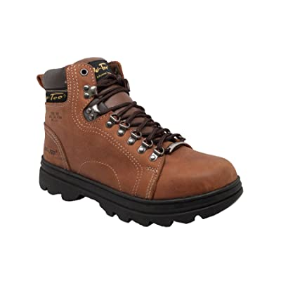 "Ad Tec Men's Adtec 6"" Leather Hiker Work Boot Steel Toe Brown 12 D 