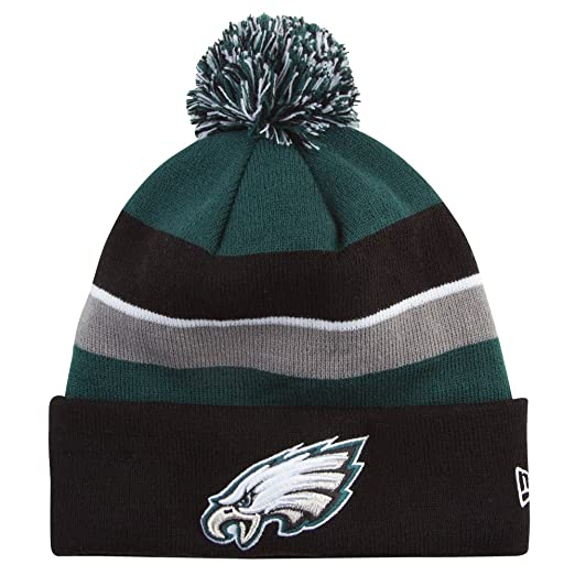 Amazon.com   Philadelphia Eagles New Era On Field Sport Knit Hat ... 587207be14a