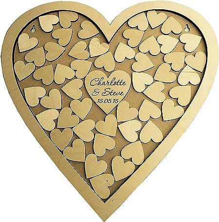 Libro de invitados para boda personalizable con forma de corazón ...