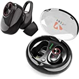 Wireless Earbuds by YOZZ Play | Bluetooth 5.0 Cordless Headphones with Microphone | True 3D Stereo Bass Sound & Noise Cancelling Headset with Charging Box | Up to 6 Hours Music Play Earphones