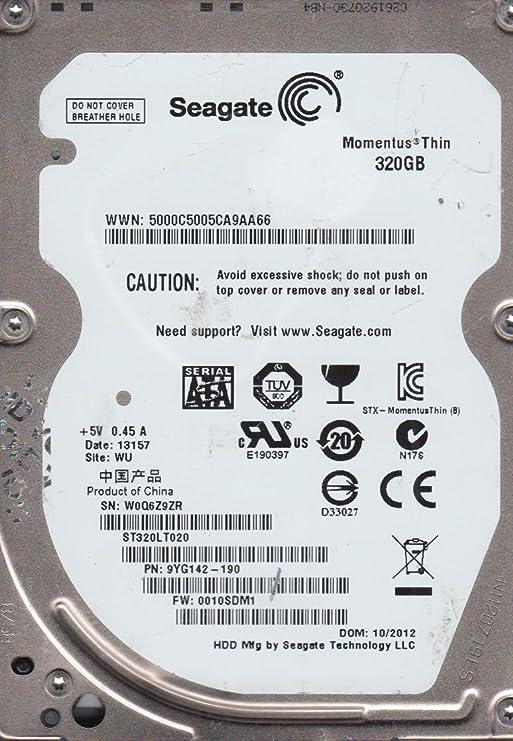PN 9YG142-190 W0Q Seagate 320GB SATA 2.5 Hard Dri FW 0010SDM1 ST320LT020 WU