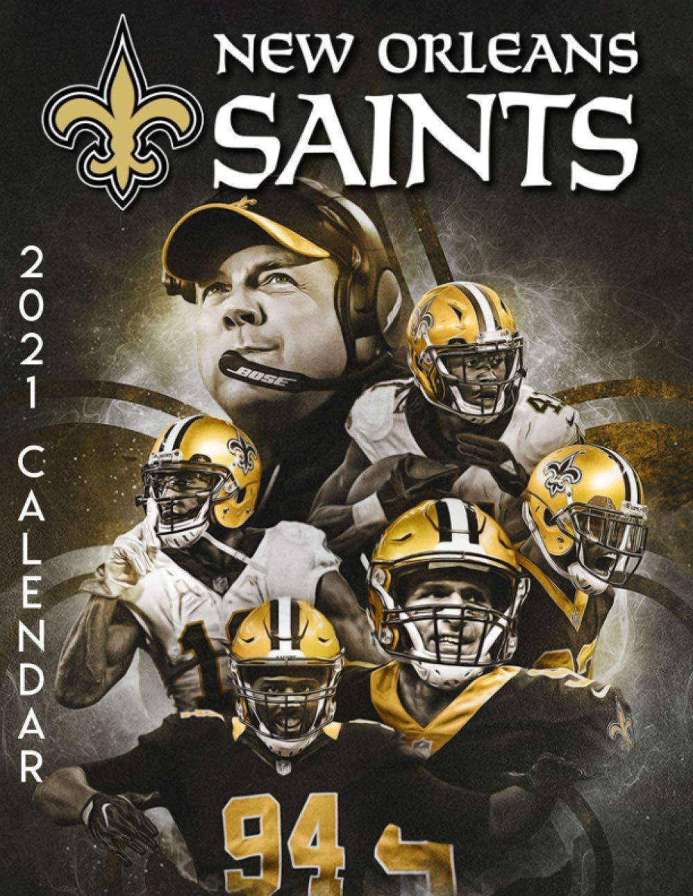 New Orleans Calendar 2022.New Orleans Saints 2021 Calendar Sports Teams Calendar 9798583904341 Amazon Com Books