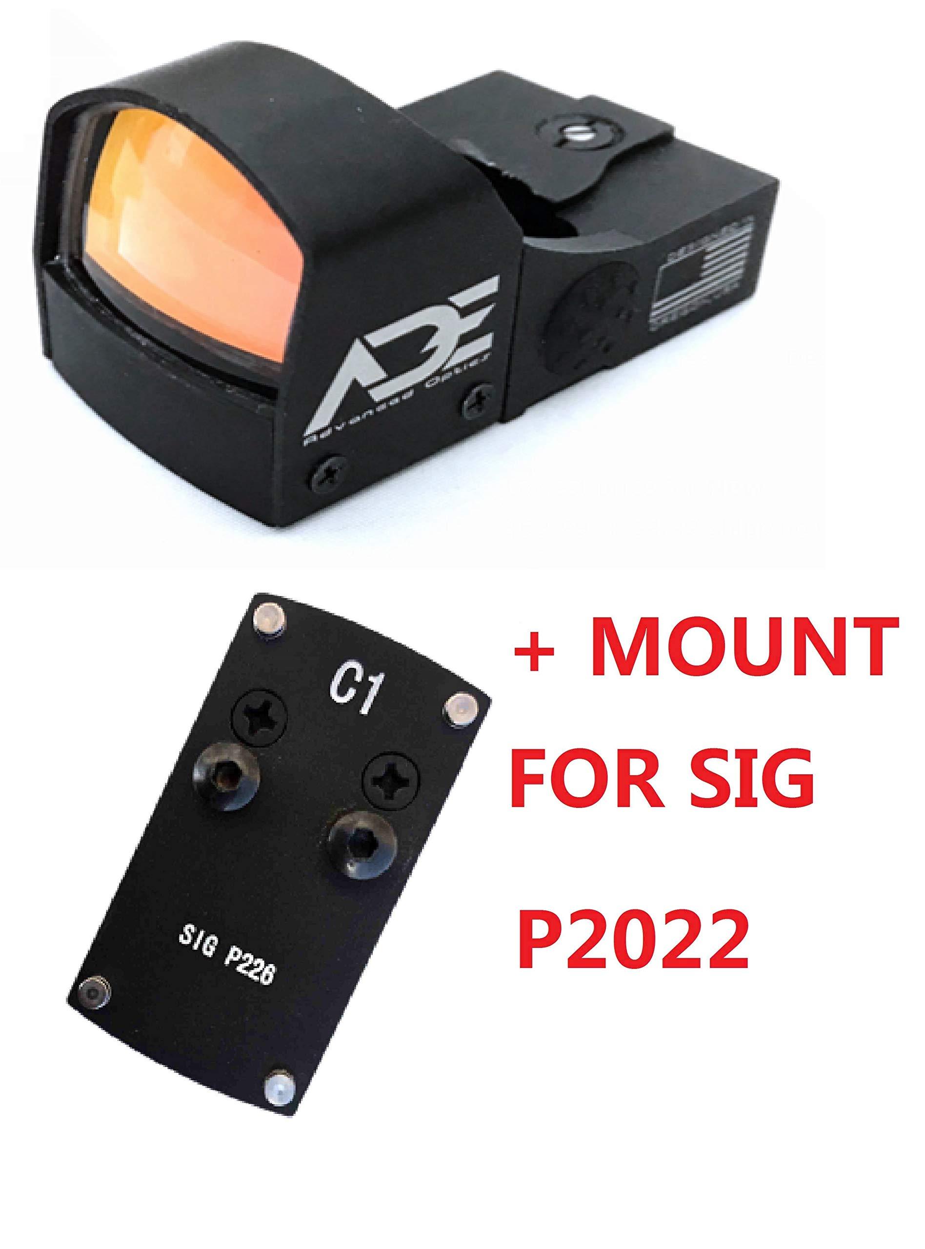 Ade Advanced Optics Compact RD3-009 Red Dot Reflex Sight for Sig Sauer P226 P2022 Pistol by Ade Advanced Optics
