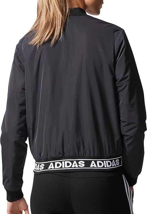 a5c30e9b0353 Adidas Women s Athletics ID Woven Bomber Jacket (Black