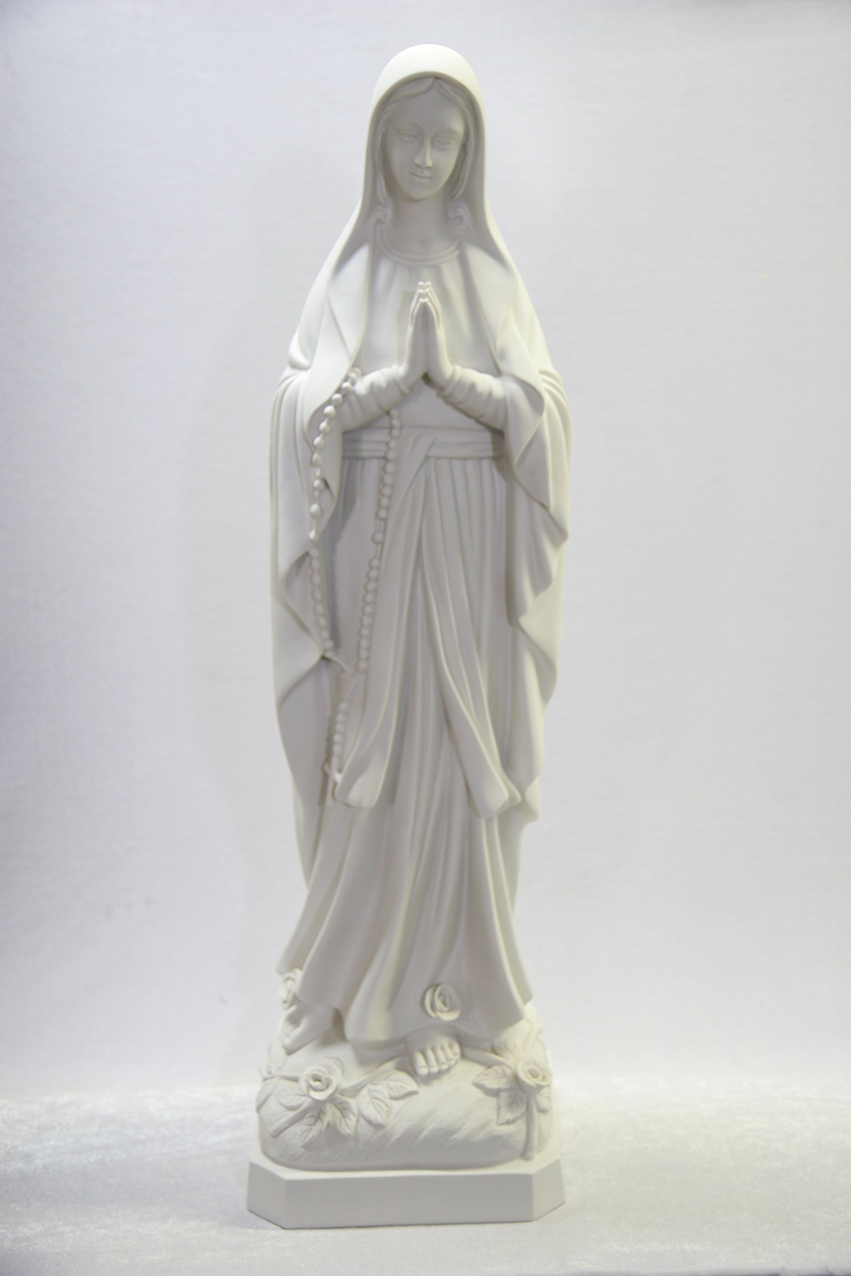 32'' Our Lady of Lourdes Blessed Virgin Mary Catholic Statue Sculpture Figure Vittoria Collection Made in Italy Indoor Outdoor Garden by Vittoria Collection