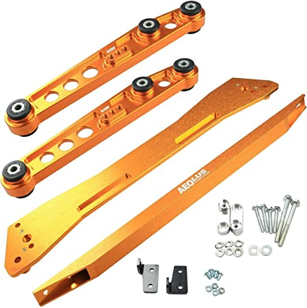 BLACKHORSE-RACING Front Upper Adjustable System A-Arm Camber Kit Fit for 1996-2000 Honda Civic Ek Red
