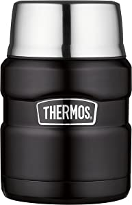 THERMOS Stainless King 16 Ounce Food Jar, Matte Black