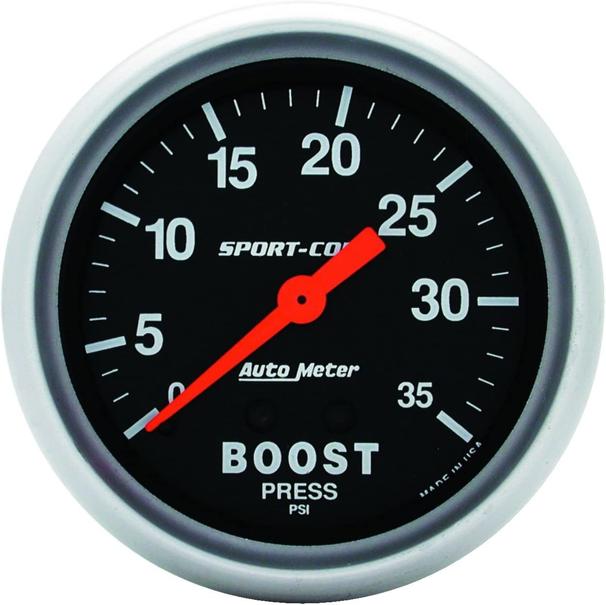 Auto Meter 8504 Factory Match 2-1//16 0-35 PSI Mechanical Boost Gauge for Dodge