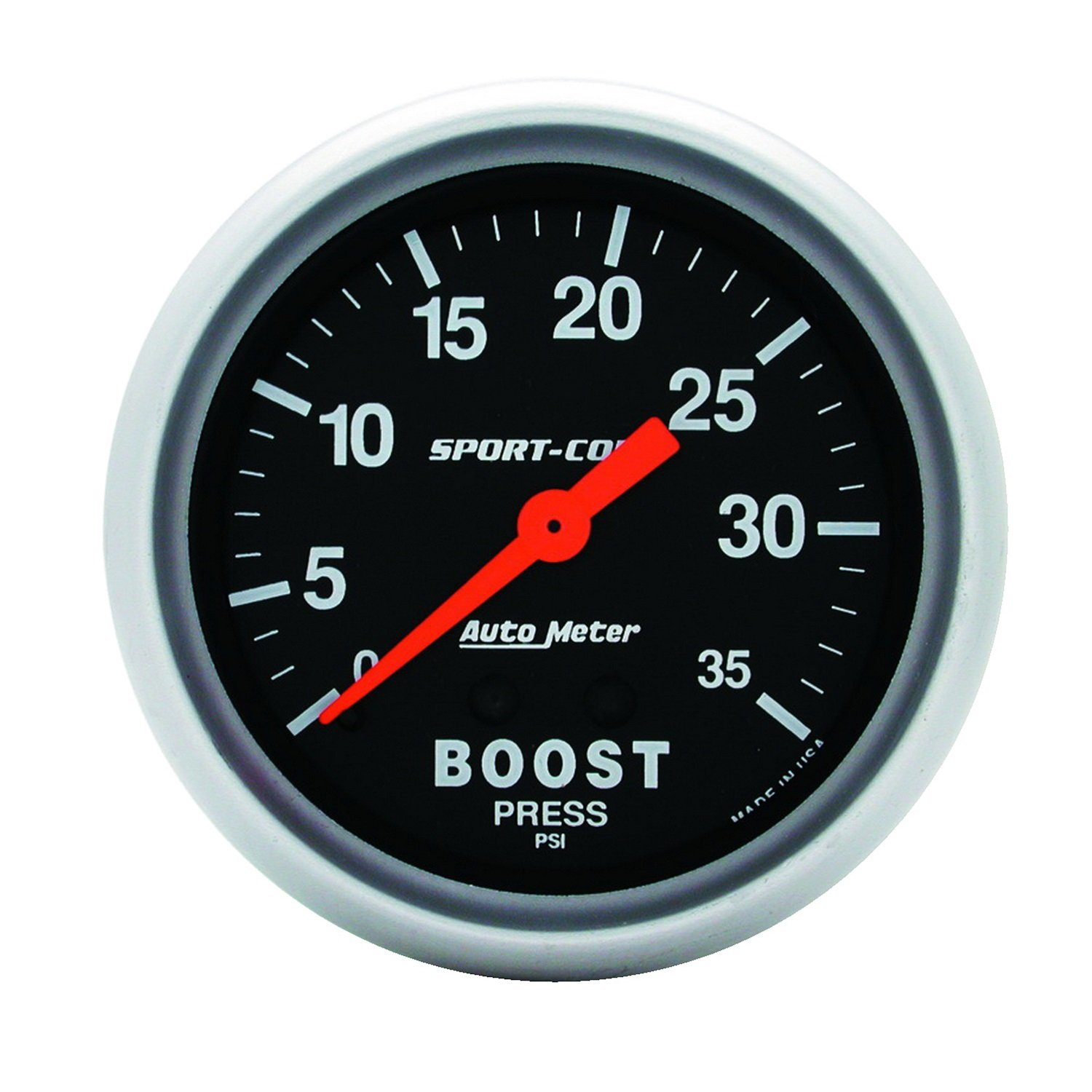 Auto Meter 3404 Sport-Comp Mechanical Boost Gauge by Auto Meter (Image #1)