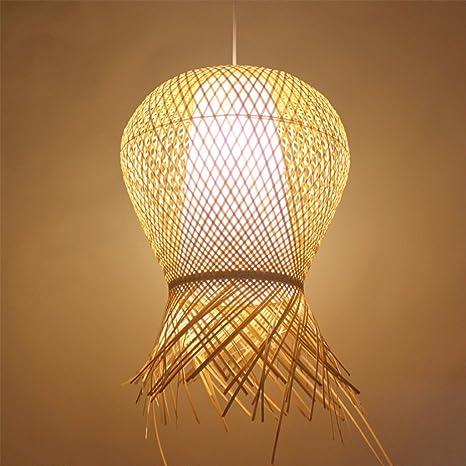 Lámpara de Techo Lámpara Colgante Araña Creativa de bambú ...