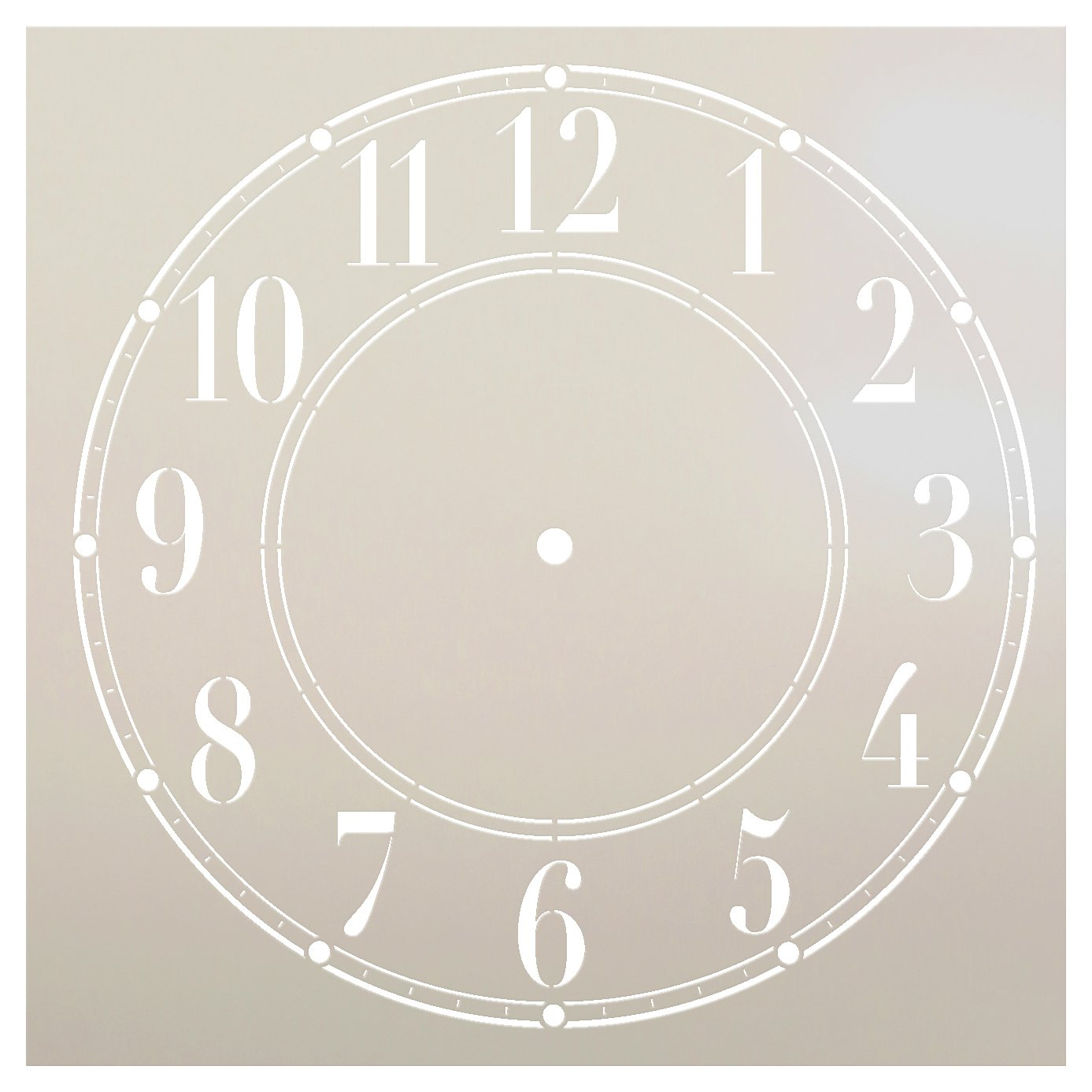 Schoolhouse Clock Stencil - 12 inch Clock