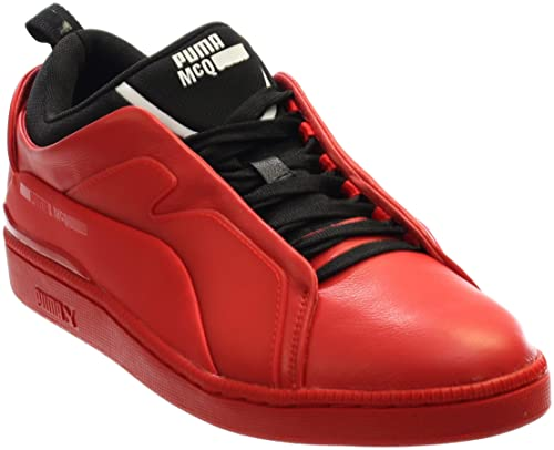 293eabc8cdd5 Puma MCQ Brace Lo Mens Red Leather Low-Top Sneaker (14 US