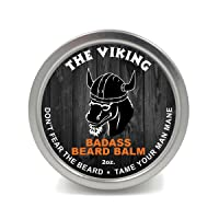 Badass Beard Care Beard Balm For Men - The Viking Scent, 2 Ounce - All Natural Ingredients...