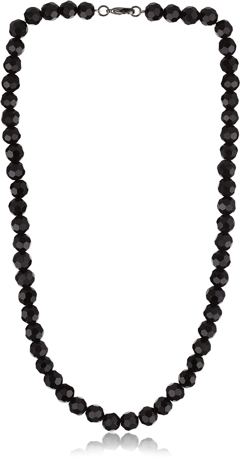 30d0b61fee9e Amazon.com  1928 Jewelry Vintage-Inspired Jet Black Beaded Necklace  Pendant  Necklaces  Jewelry