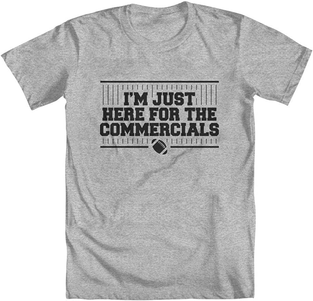 GEEK TEEZ Im Just Here for The Commercials Football Youth Girls T-Shirt